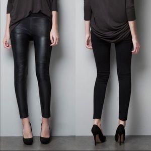 ZARA faux leather  leggings size Small
